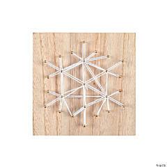 Snowflake String Art Craft