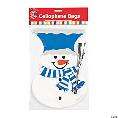 Snowman Cellophane Bags