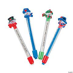Snowman Eraser Sticks