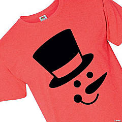 Snowman Face Adult's T-Shirt - Extra Large
