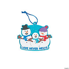 Snowman Family Ornament Craft Kit