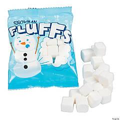 Snowman Fluffs Marshmallow Candy Fun Packs