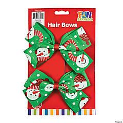 Snowman Hair Bows