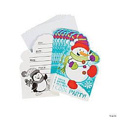 Snowman Invitations - 8 pcs.