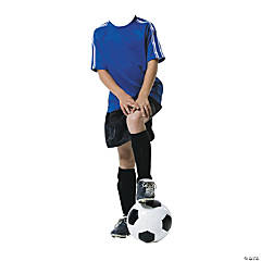 Soccer Boy Cardboard Photo Stand-Up