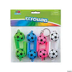 Soccer Whistle Keychains