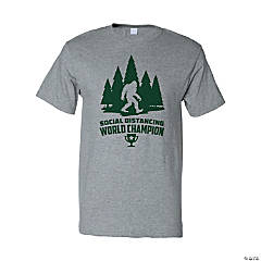 Social Distancing World Champion Sasquatch Adult's T-Shirt - Large
