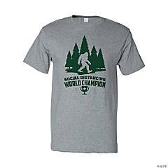Social Distancing World Champion Sasquatch Adult's T-Shirt - Medium