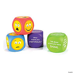 Soft Foam Emoji Cubes, 4 Per Pack, Set of 2 Packs