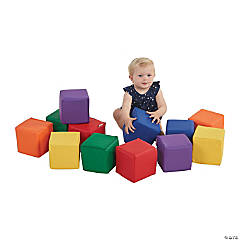 SoftZone® Patchwork Toddler Blocks - Contemporary