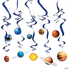 Solar System Hanging Swirl Decorations - 10 Pc.