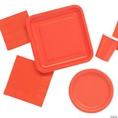 Solid Color Coral Tableware