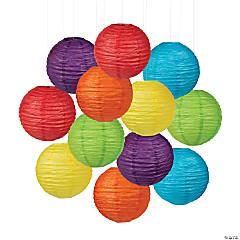 Solid Color Hanging Paper Lanterns