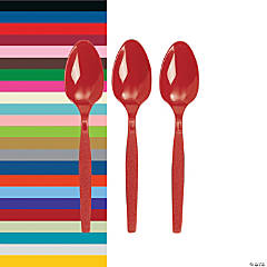 Solid Color Plastic Spoons