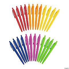 Solid Color Retractable Pen Assortment