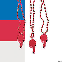 Solid Color Team Spirit Whistle Necklaces