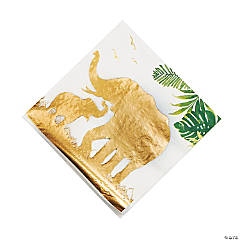 Sophisticated Safari Luncheon Napkins with Gold Foil - 16 Pc.