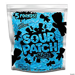 SOUR PATCH KIDS Blue Raspberry Soft & Chewy Candy, Just Blue (5 LB Party Size Bag)