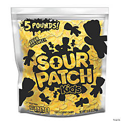 SOUR PATCH KIDS Lemon Soft & Chewy Candy, Just Yellow (5 LB Party Size Bag)