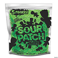 SOUR PATCH KIDS Lime Soft & Chewy Candy, Just Green (5 Lb. Party Size Bag)
