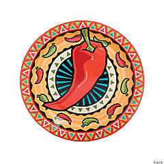 Southwest Chilies Paper Dinner Plates - 8 Ct.