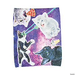 Space Cat Fleece Throw
