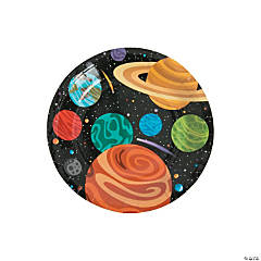 Space Party Paper Dessert Plates - 8 Ct.