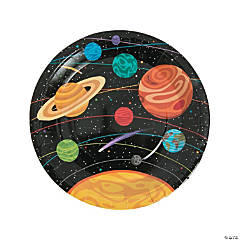 Space Party Paper Dinner Plates - 8 Ct.