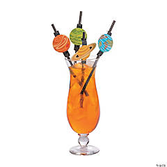 Space Party Paper Straws