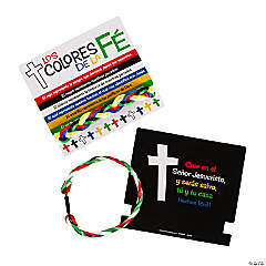 Spanish Colors of Faith Bracelets with Card