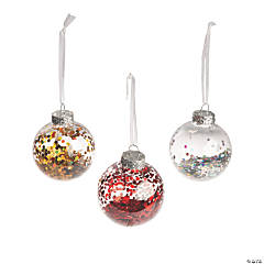 Sparkle-Filled Ball Ornaments