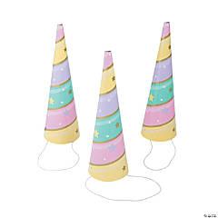 Sparkle Unicorn Horn Party Hats - 8 Pc.