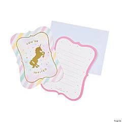 Sparkle Unicorn Invitations - 8 Pc.