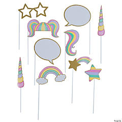 Sparkle Unicorn Photo Stick Props