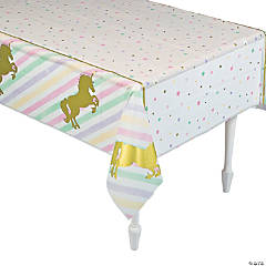 Sparkle Unicorn Plastic Tablecloth