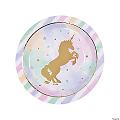 Sparkle Unicorn Round Paper Dinner Plates - 8 Ct.
