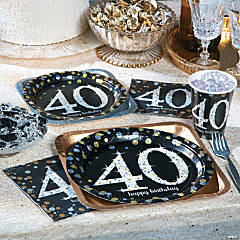 Sparkling Celebration 40th Birthday Party Supplies