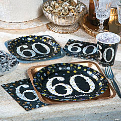 Sparkling Celebration 60th Birthday Party Supplies