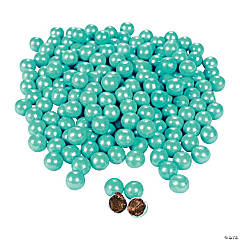 Sparkling Turquoise Chocolate Candies