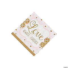 Sparkling Wedding Beverage Napkins