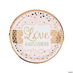 Sparkling Wedding Metallic Paper Dinner Plates
