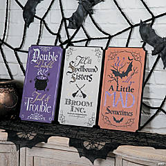 Spellbound Witchy Signs Halloween Decoration