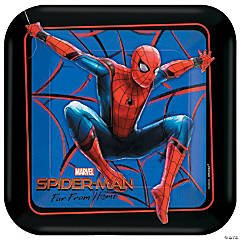 Spider-Man: Far From Home™ Square Paper Dessert Plates - 8 Ct.