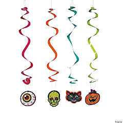 Spookadelic Hanging Swirl Halloween Decorations - 12 Pc.