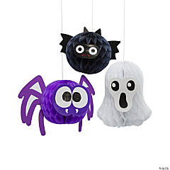 Spooktacular Friends Honeycomb Hanging Decorations