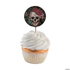 Spooky Floral Cupcake Picks