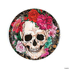 Spooky Floral Dinner Plates