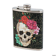 Spooky Floral Flask