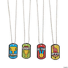 Sport Icons Dog Tag Necklaces