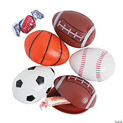 Sports Ball Bee® Candy-Filled Plastic Easter Eggs - 12 Pc.